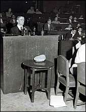A member of the International Committee for the Nanking Safety Zone, Miner Searle Bates, testified to the atrocities on July 29, 1946.