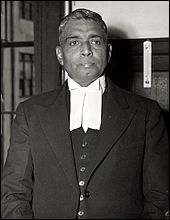 December 1, 1947. Justice Radhabinod Pal (India).