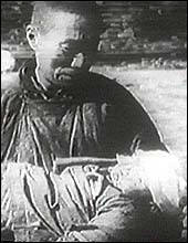 A scene from The Battle of China that depicted atrocities committed by the Japanese troops in Nanking.