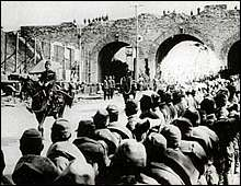 Matsui making his triumphal entry into Nanking on December 17, 1937.