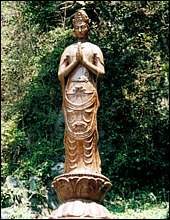 The statue of Kannon, the Buddhist Goddess of Mercy, erected by Matsui.