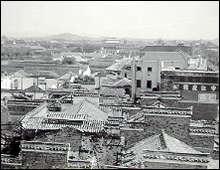 A view from the tower of St. Paul's Church in Nanking in the spring of 1938.