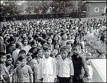 Refugees in the University of Nanking. March 1938.