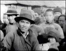 Chinese refugees filmed by an American missionary, John Magee.