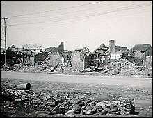War damage in the southern section of Nanking. Photo taken by an American missionary, Ernest Forster, in March 17, 1938.