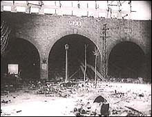 Yijiang Men (Gate) after the fall of the city as filmed in the documentary, Nanking.